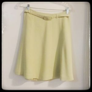 Soft Green Petite Belted Skirt